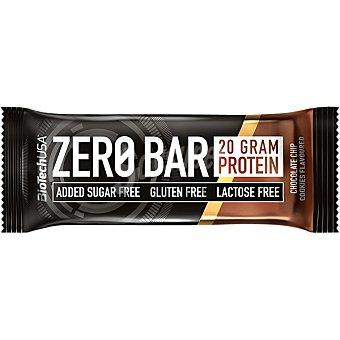 Biotech usa Zero barrita de proteinas con chips de chocolate sin gluten, sin lactosa envase 50 g y sin azúcares añadidos envase 50 g