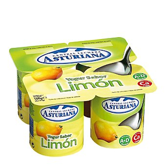 Central Lechera Asturiana Yogur sabor limón Pack 4x125 g