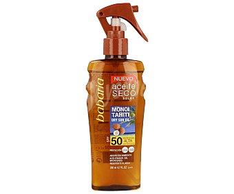 Babaria Aceite solar seco con factor protección 50 (alto) 200 mililitros