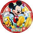 Plato decorado redondo 23 cm Paquete 8 unidades Mickey Disney