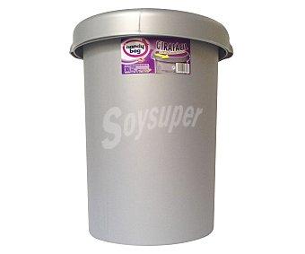 TABERSEO Cubo girafacil color lila, capacidad 30 litros 1 unidad