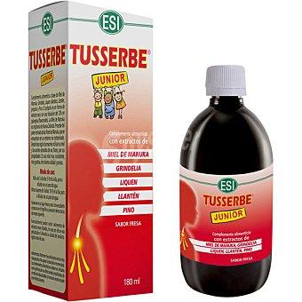 ESI Tusserbe Junior jarabe para niños con afectaciones de las vias respiratoria sabor fresa Frasco 150 ml