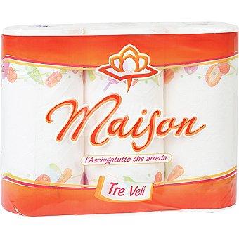 MAISON Rollos de cocina 3 capas paquete 3 rollos Paquete 3 rollos