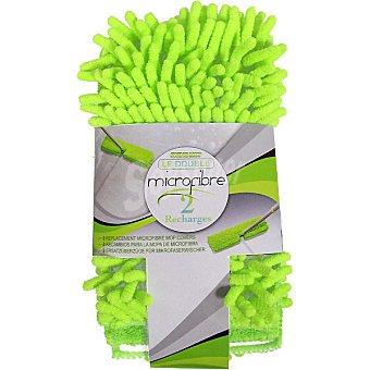 INDUSTEX recambio de mopa microfibra envase 2 unidades