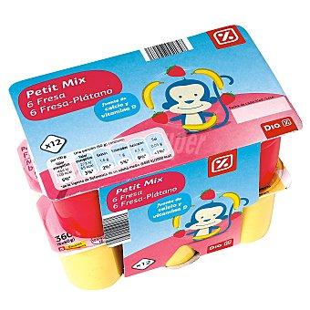 DIA Petit suisse fresa/fresa-plátano pack 12 unidades 60 g