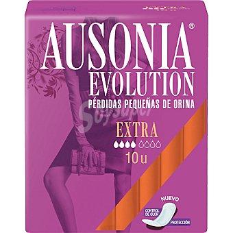 AUSONIA EVOLUTION Compresa de incontinencia extra para pequeñas pérdidas bolsa 10 Unidades