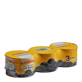La Española Aceitunas negras sin hueso 150 g