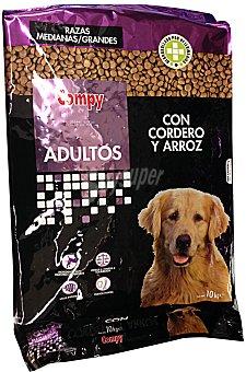 Compy Comida perro adulto croqueta cordero arroz Paquete 10 kg