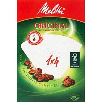 Melitta Filtro de café 1X4 Caja 80 unid