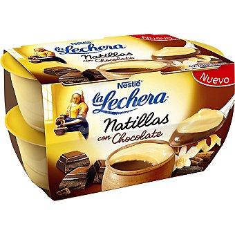 La Lechera Nestlé Natillas con chocolate Pack 4x70 gramos