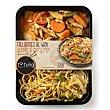 Tallarines al Wok y pollo al curry rojo 350 g Ta Tung