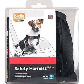 KARLIE Arnes para perro ajustable para coche color negro medidas 50-70x25 cm 1 unidad 1 unidad