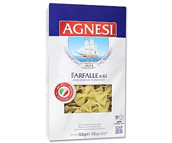 Agnesi Farfalles Nº 61, pasta de sémola de trigo duro de calidad superior 500 Gramos