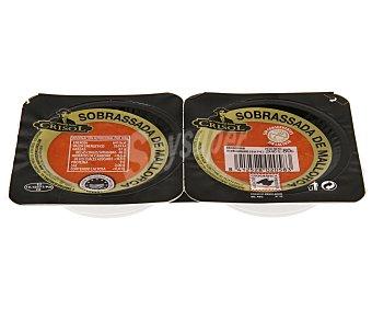 Crisol Medallones de sobrasada de mallorca Pack de 2 unidades de 40 gramos
