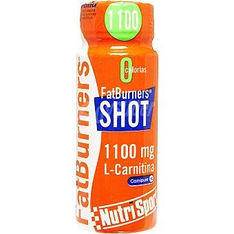 NUTRISPORT bebida energética Fatburners Shot 1100 mg L-Carnitina botella 60 ml 1100 L