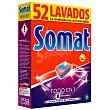 Detergente lavavajillas todo en 1 Caja 52 pastillas Somat