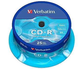 Verbatim Tarrina de 25 cd-r 700MB 52X verbatim cd-r 52x