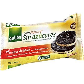 GULLON DIET NATURE Tortitas de maiz con chocolate negro sin azucares añadidos  estuche 100 g