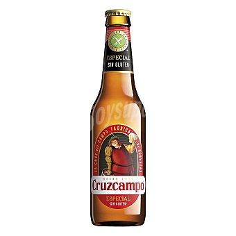 Cruzcampo Cerveza especial sin gluten Botella 33 cl