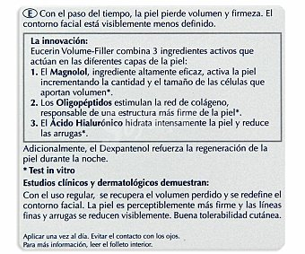 Eucerin Crema antiedad de noche Volume-Filler  Bote 50 ml