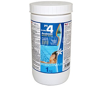 Pqs Tratamiento 4 funciones (desinfectante, algicída, floculante y antical) en tabletas de 200 gramos 1 Kilogramo