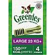 Snacks dentales para perros +23 kg Envase 4 unidad Greenies