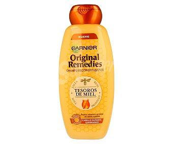 Garnier Champú reconstituyente con jalea real, miel y propóleo para cabello dañado y quebradizo (repara, refuerza y protege de raíces a puntas) 400 mililitros