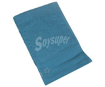 Actuel Toalla de tocador 100% algodón color azul con cenefa strass, /m², 30x50cm 500g