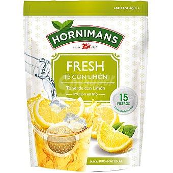 HORNIMANS FRESH té verde con limón (infusión en frío) 15 bolsitas Estuche 37 g