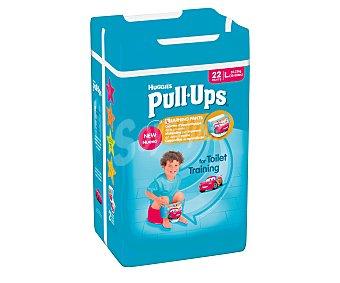 Pull-Ups Huggies Pañal de aprendizaje para niño talla 6 de 16 a 23 Kilogramos 22 unidades