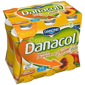 Danacol Danone Zumo melocoton 6 X 100 GRS