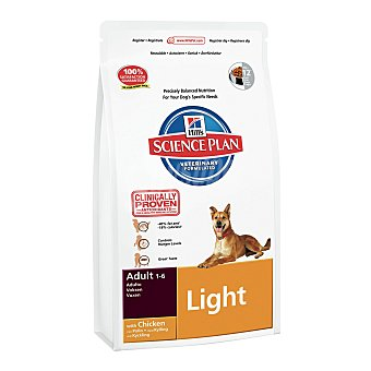 Hill's Science Plan Pienso para perros adultos medianos Hill's Science Plan Light pollo 14 kg