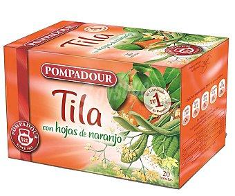 Pompadour Tila con hojas de naranja 20 bolsitas