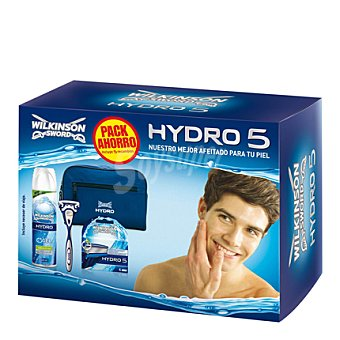 Wilkinson Pack afeitado Hydro 5 (maquinilla + 5 recambios + gel + neceser) 1 ud