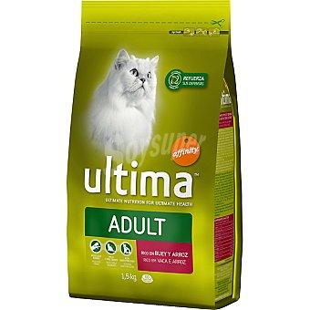 AFFINITY ULTIMA ADULT Rico en buey y arroz para gato bolsa 1,5 kg Bolsa 1,5 kg