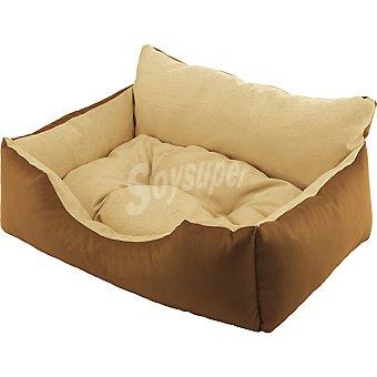 FERPLAST sofá para mascotas acolchado reversible modelo Royal color marrón medidas 55x45x26 cm  1 unidad