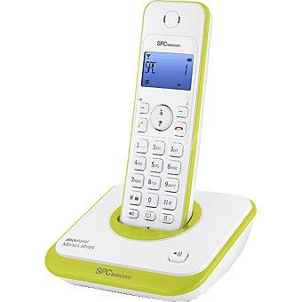 SPC TELECOM Teléfono inalámbrico  7243V DECT Digital con manos libres en color blanco y verde 1 Unidad