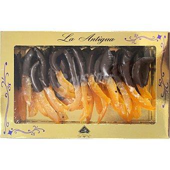 LA ANTIGUA DE LEÓN Tiras de naranja bañadas en chocolate  estuche 250 g