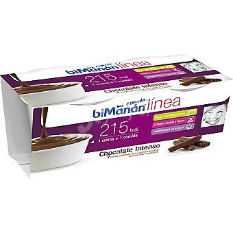 BIMANAN LINEA Mi Comida Crema de chocolate intenso sustitutiva 2 unidades estuche 420 g 2 unidades
