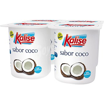 Kalise Yogur sabor coco pack 4 unds. 125 g Pack 4 unds. 125 g