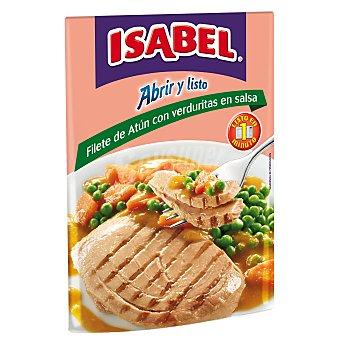 ISABEL Filete de atún con verduritas en salsa Sobre de 180 g