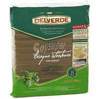 DELVERDE Lasaña con espinacas Paquete 500 g