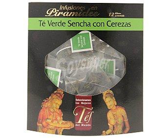 TÉS DEL MUNDO Té verde sencha con cerezas 12 filtros