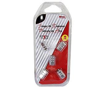BRICAR Juego de 5 Tapones de Válvulas para Ruedas, Modelo Style 1 Unidad