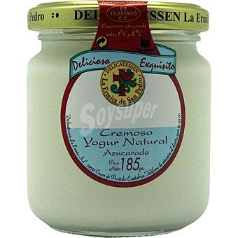 La Ermita de San Pedro Crema de yogur natural azucarado Tarro 185 g