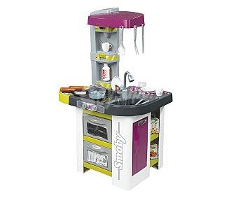 Smoby Cocinita de juguete con barbacoa y 28 accesorios, 100x63x47 centímetros, Studio Bubble 1 unidad