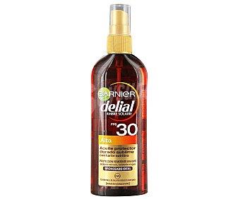 Delial Garnier Aceite solar bronceador en spray SPF 30 (alto) Spray 150 ml