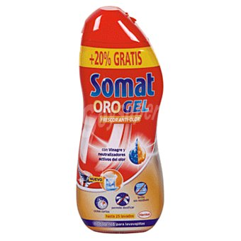 Somat Lavavajillas maquina gel oro con vinagre botella 630 ml Botella 630 ml