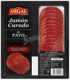 Argal Jamón curado de pavo cortado en lonchas Pack 2 x 40 g