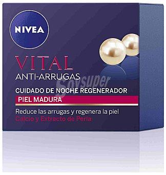 Crema de noche antiarrugas (regenera la piel y reduce las arrugas) para piel madura Bote 50 ml